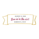 Weddingstar 8818-22 Love is In the Air Small Banner Sticker