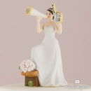 Weddingstar 9017 #1 Fan Cheering Bride Figurine