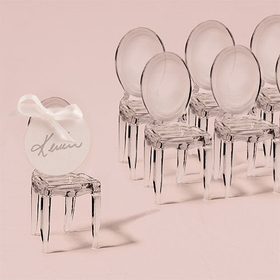 Weddingstar 9083 Miniature Clear Acrylic Phantom Chair, stickers not included, Price/Packags of 8