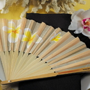 Weddingstar 9146 Tropical Fan with Romantic Plumeria Floral Details