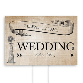 Weddingstar 9185-1151 Rustic Country Wedding Directional Sign