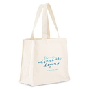 Weddingstar 9219-1193 Aqueous Personalized Tote Bag - Mini Tote with Gussets
