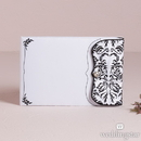 Weddingstar 9222 Love Bird Damask in Classic Black and White Guest Book