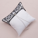 Weddingstar 9224 Love Bird Damask in Classic Black and White Ring Pillow