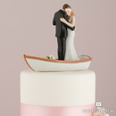 "Weddingstar 9352 ""Row Away"" Wedding Couple in Rowboat Figurine"