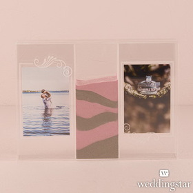 "Weddingstar 9372 ""Clearly Love"" Sand Ceremony Shadow Box with Photo Frames"