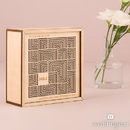 Weddingstar 9547 Cubist Laser Cut Natural Wood Keepsake Box