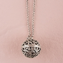 Weddingstar 9637 Filigree Vine Orb Locket with Chain