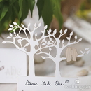 Weddingstar 9682-08 Laser Expressions Tree Silhouette With Owls Die Cut Card - White