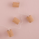 Weddingstar 9753 String of Lights with Natural Burlap Shades - Battery LED