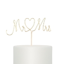 Weddingstar 9804-55 Mr. & Mrs. Twisted Wire Cake Topper - Gold