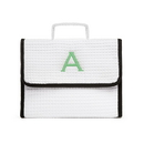 Weddingstar K42053-08 Stand Up Waffle Cosmetic Bag - White