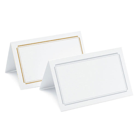Weddingstar P50-99 Package of 50 Plain Place Card, Price/Packags of 50