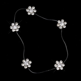 Elegance by Carbonneau Anklet-1-Clear Clear Crystal Flower Anklet 1 on Illusion