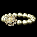 Elegance by Carbonneau B-1023-Gold-Ivory Gourgeous Gold Ivory Pearl Bracelet B 1023
