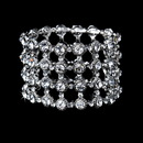 Elegance by Carbonneau B-1032-Silver-Clear Bracelet 1032 Silver Clear