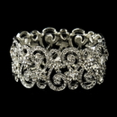 Elegance by Carbonneau B-10519-S-Clear Victorian Floral Ambiance Cuff Bracelet 10519