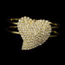 Elegance by Carbonneau B-1096-Gold-Clear Bracelet 1096 Gold Clear