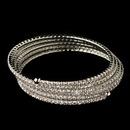Elegance by Carbonneau B-1423-RD-CL Rhodium Clear Rhinestone 5 Row Stretch Coil Bracelet 1423