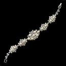 Elegance by Carbonneau B-174-RD-DW Rhodium Diamond White Pearl & Clear Rhinestone Bracelet 174