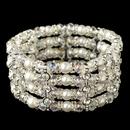 Elegance by Carbonneau B-4107-S-WH Silver White Pearl, AB Swarovski Crystal & Clear Rhinestone 4 Row Stretch Bracelet 4107