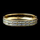 Elegance by Carbonneau B-6102-G-Lt-Blue Light Blue Pastel Enamel Hinged Bracelet with Gold Studs 6102