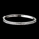 Elegance by Carbonneau B-6502-AS-Clear Antique Silver Clear CZ Crystal Bridal Bangle Bracelet 6502