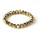 Elegance by Carbonneau B-7613-Gold Gold Brown 10mm Stretch Bracelet 7613
