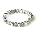 Elegance by Carbonneau B-7613-Silver Silver 10mm Stretch Bracelet 7613