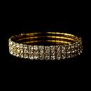 Elegance by Carbonneau B-80591-Gold-Clear Gold Stretch 3 Line Bracelet 80591