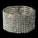 Elegance by Carbonneau B-80693-S-Clear Silver Clear Rhinestone Stretch Bracelet 80693