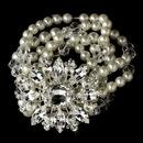 Elegance by Carbonneau B-80696 Pearl, Rhinestone & Swarovski Crystal Bridal Bracelet 80696