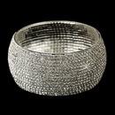 Elegance by Carbonneau B-81401-S-Clear Silver Clear Rhinestone Bangle Bridal Bracelet 81401