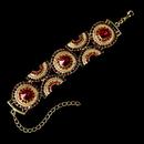 Elegance by Carbonneau B-8288-Gold-Red Inspiring Gold Ruby Rhinestone Bracelet 8288