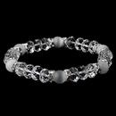 Elegance by Carbonneau B-8333-Clear-White Stretch Bracelet 8333 Clear White
