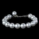 Elegance by Carbonneau B-8371-white Bracelet 8371 White