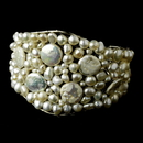 Elegance by Carbonneau B-8379-silverpearl Bracelet 8379 Silver Pearl