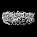 Elegance by Carbonneau b-8390-silver Silver Clear Rhinestone Bridal Bracelet 8390