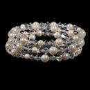 Elegance by Carbonneau B-8439-Silver-Ivory Bracelet 8439 Silver Ivory