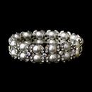 Elegance by Carbonneau b-8481-silver-clear Silver Clear AB Stretch Bracelet 8481