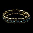 Elegance by Carbonneau B-8517-Gold-Aqua Gold Aqua Stretch Bracelet 8517
