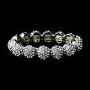 Elegance by Carbonneau B-8543-Silver Glistening Crystal Silver Stretch Bracelet 8543