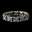 Elegance by Carbonneau B-8556 Vintage Silver Clear Stretch Bracelet 8556