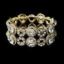 Elegance by Carbonneau B-8658-G-Clear Gold Clear Crystal Stretch Bridal Bracelet 8658