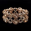 Elegance by Carbonneau B-8658-Rose-Gold Rose Gold Crystal Stretch Bracelet 8658