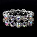 Elegance by Carbonneau B-8658-S-AB Silver AB & Clear Crystal Stretch Bracelet 8658