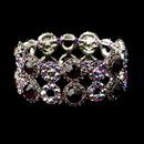 Elegance by Carbonneau B-8658-S-Amethyst Silver Amethyst & AB Crystal Bridal Stretch Bracelet 8658
