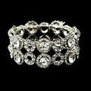 Elegance by Carbonneau B-8658-S-Clear Silver Clear Crystal Bridal Stretch Bracelet 8658