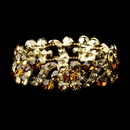 Elegance by Carbonneau B-8661-G-Topaz Gold Topaz Crystal Bridal Stretch Bracelet 8661