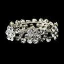 Elegance by Carbonneau B-8661-S-Clear Silver Clear Crystal Bridal Stretch Bracelet 8661